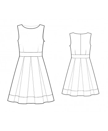 Custom-Fit Sewing Patterns - Jewel Neck Dress