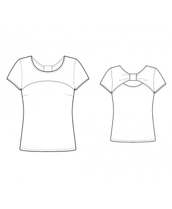 Custom-Fit Sewing Patterns - Knit T With Back Bow