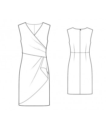 Custom-Fit Sewing Patterns - Surplice Dress With Draped Skirt