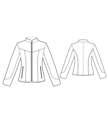 Custom-Fit Sewing Patterns - Fitted Zipper-Front Jacket
