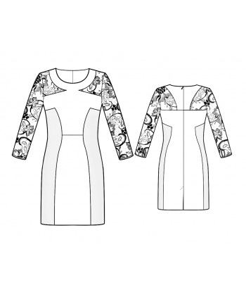 Custom-Fit Sewing Patterns - Sculped Sheer Sleeves Dress