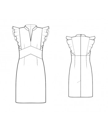 Custom-Fit Sewing Patterns - Flutter Cap Sleeve Dress