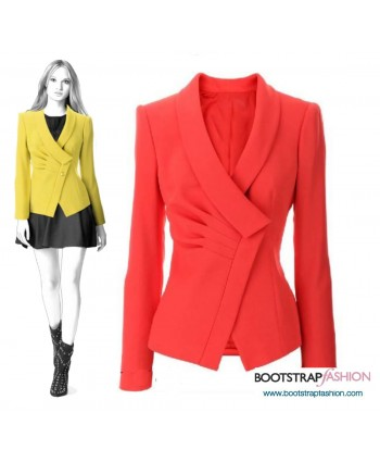 Custom-Fit Sewing Patterns - Tailored  Asymmetrical Jacket