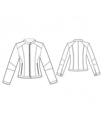 Custom-Fit Sewing Patterns - Multi Seamed Bicker Jacket