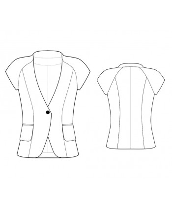 Custom-Fit Sewing Patterns - Capped-Sleeve Collarless Jacket