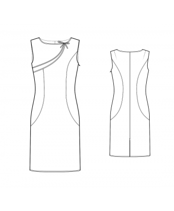 Custom-Fit Sewing Patterns - Asymmetrical Detail Sheath