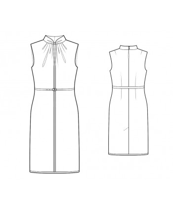 Custom-Fit Sewing Patterns - Draped Keyhole Fitted Dress