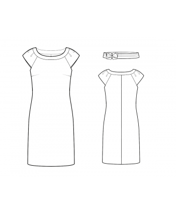 Custom-Fit Sewing Patterns - Boatneck Knit Dress