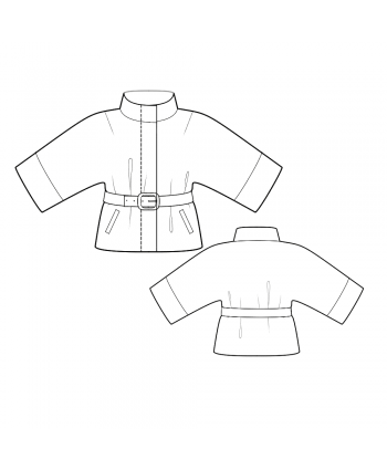 Custom-Fit Sewing Patterns - Belted Jacket with Kimono Sleeves