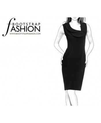 Custom-Fit Sewing Patterns - Origami Neckline Sheath