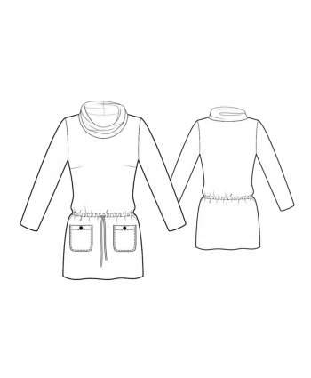 Custom-Fit Sewing Patterns - Pocket and Tie Tunic