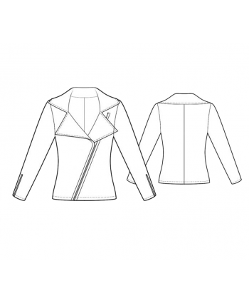 Custom-Fit Sewing Patterns - Asymmetrical Zip Jacket