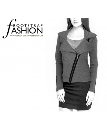Custom-Fit Sewing Patterns - Asymmetrical Zip Jacket