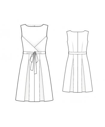 Custom-Fit Sewing Patterns - Pleated Waist Tie Dress