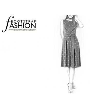 Custom-Fit Sewing Patterns - Pleated Waist Tie Dress