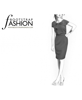 Custom-Fit Sewing Patterns - Boatneck Pencil Dress
