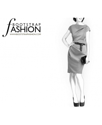 Custom-Fit Sewing Patterns - Draped Sheath