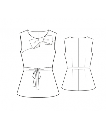 Custom-Fit Sewing Patterns - Peplum Top With Decorative Bow