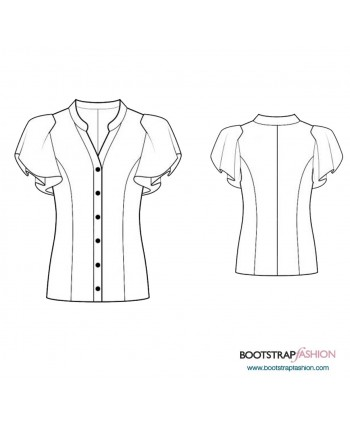 Custom-Fit Sewing Patterns - Blouse With Ruffle Sleeves