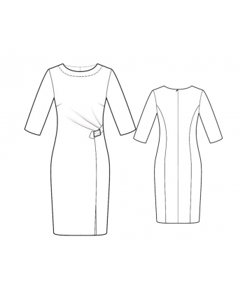 Custom-Fit Sewing Patterns - Draped Skirt Dress