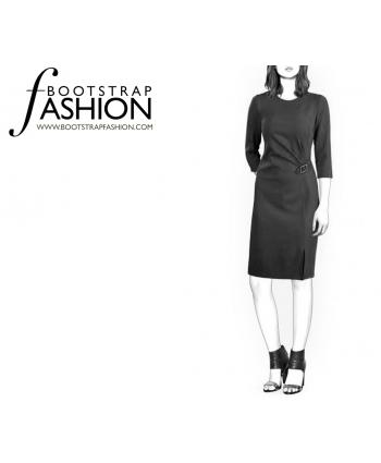 Custom-Fit Sewing Patterns - Draped Skirt Dress