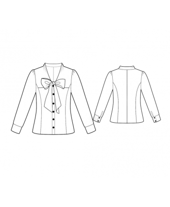 Custom-Fit Sewing Patterns - Blouse With Tie