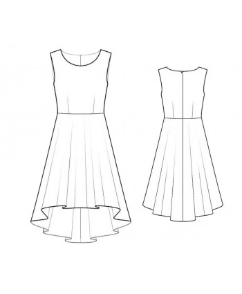 Custom-Fit Sewing Patterns - Hi-Low Sleeveless Dress