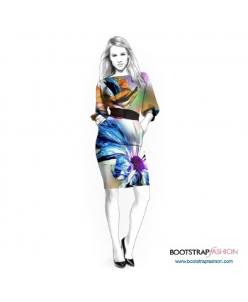 Custom-Fit Sewing Patterns - Poet Sleeves Knit Dress