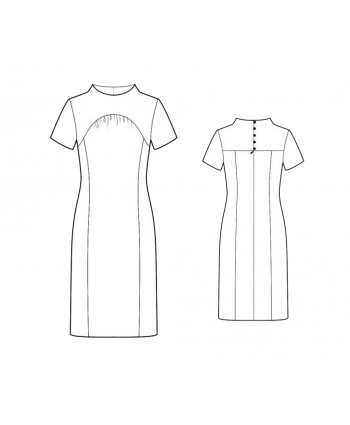 Custom-Fit Sewing Patterns - Funnel Neck Dress