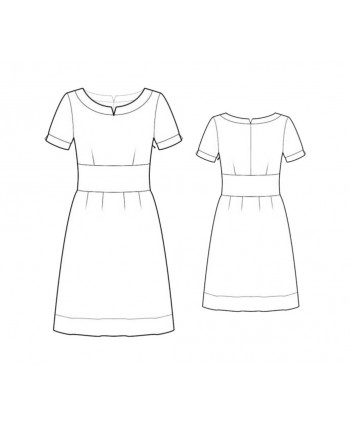 Custom-Fit Sewing Patterns -  Cinched Sheath With Contrast Sleeves