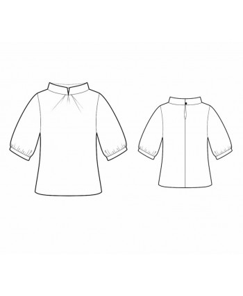 Custom-Fit Sewing Patterns - Standup Collar Top