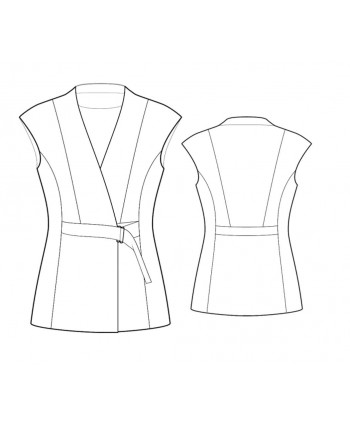Custom-Fit Sewing Patterns - Sleeveless Wrap Top