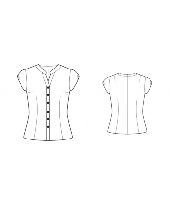 Custom-Fit Sewing Patterns - Mandarin Collar Blouse