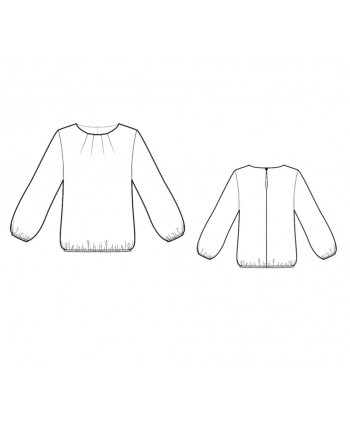 Custom-Fit Sewing Patterns - Pleated Neckline Blouse
