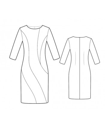 Custom-Fit Sewing Patterns -  Asymmetrical Color Block Dress