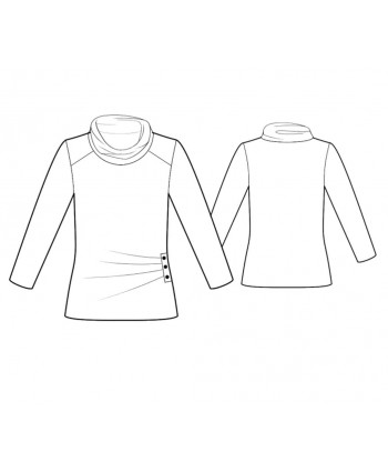Custom-Fit Sewing Patterns - Cowl Neck Top