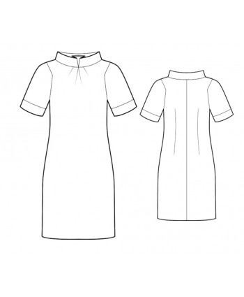 Custom-Fit Sewing Patterns - Short-Sleeved Dress With Stand Collar