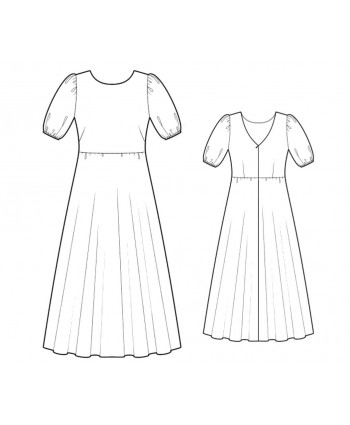 Custom-Fit Sewing Patterns - Puff Sleeve Gown