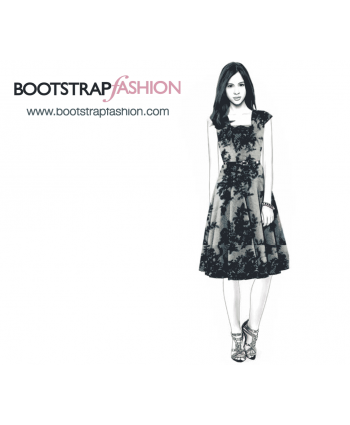 Custom-Fit Sewing Patterns - Cap-Sleeved Fit and Flare Dress