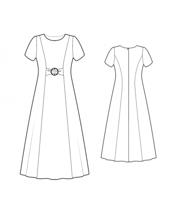 Custom-Fit Sewing Patterns - A-line Color Blocked Dress With Princess Seams