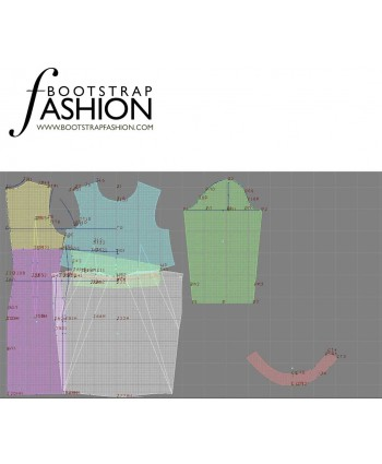 Custom-Fit Sewing Patterns - Turtleneck Dress With Pleated Waist