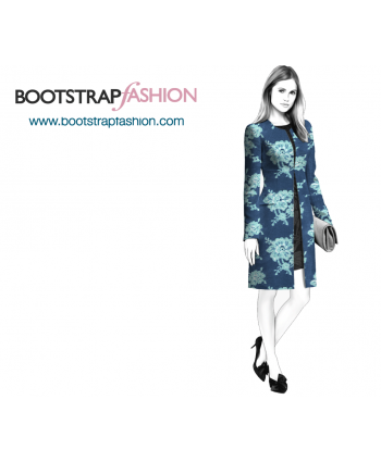 Custom-Fit Sewing Patterns - Collarless Coat With Zipper
