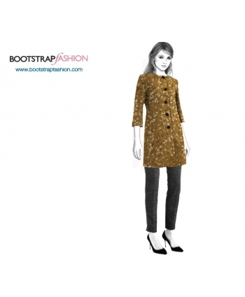 Custom-Fit Sewing Patterns - Collarless Coat With Princess Seams