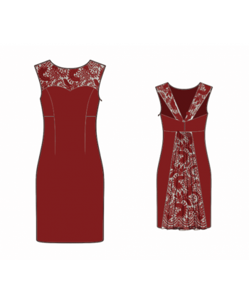 Custom-Fit Sewing Patterns - Dress With Back Opening