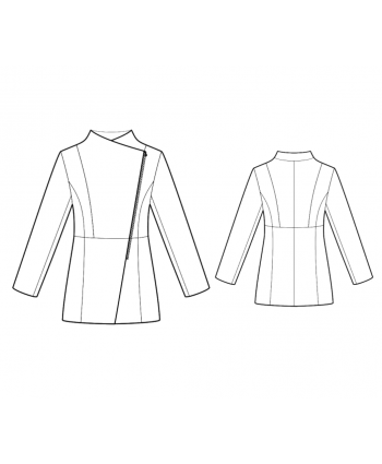 Custom-Fit Sewing Patterns - Warm Jacket With Diagonal Zipper
