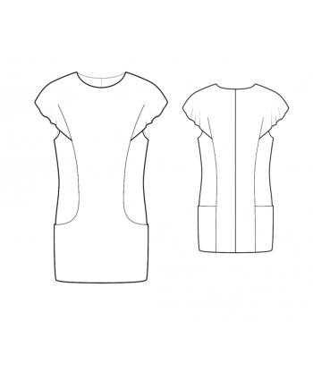 Custom-Fit Sewing Patterns - Flutter Sleeve Tunic