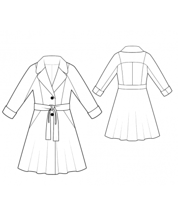 Custom-Fit Sewing Patterns - Raglan Sleeve Coat