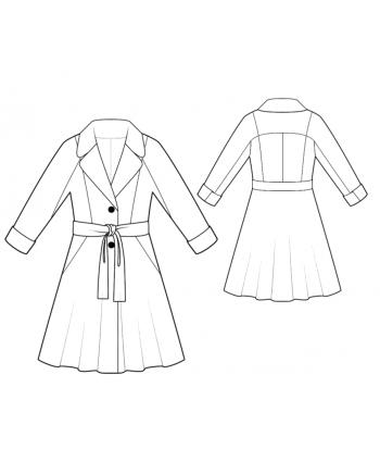 Custom-Fit Sewing Patterns - Raglan Sleeve Coat