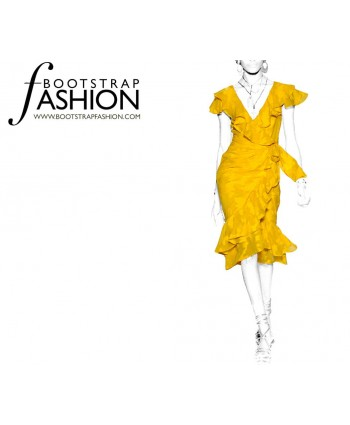 Custom-Fit Sewing Patterns - Wrap Dress With Flounce