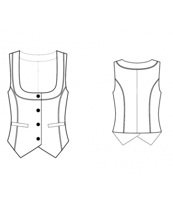Custom-Fit Sewing Patterns - Button Down Vest